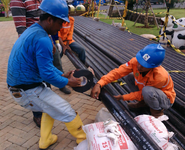 Wrapping Inner & Outer (Polyken), Field Joint Coating (HSS) (Produk & Layanan) PT. Delima Anugerah Suplindo